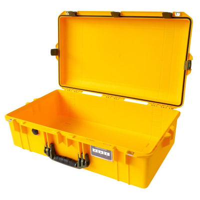 Pelican 1605 Air Colors Series, Yellow Air Case with OD Green Handles & Latches, Customizable Accessory Bundles
