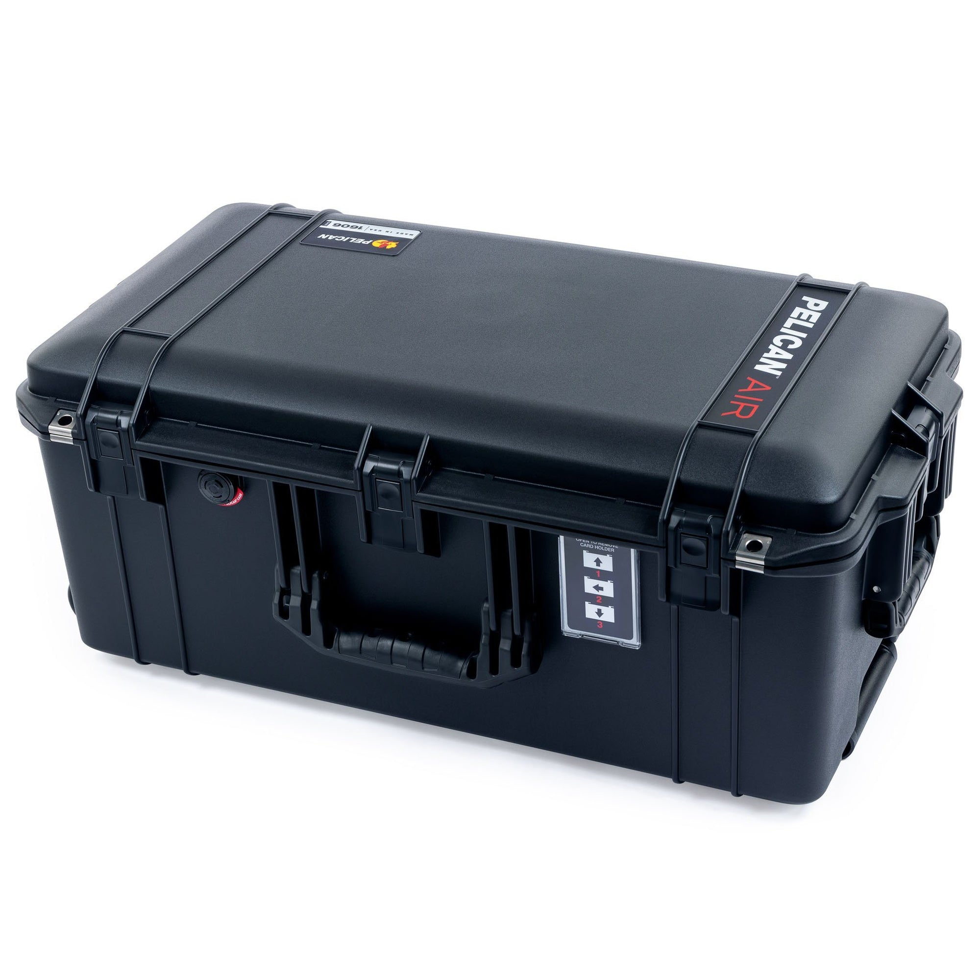 Pelican 1606 Air Case, Black with Press & Pull™ Latches - Pelican Color Case