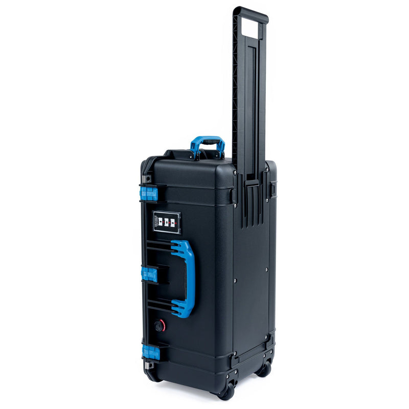 Pelican 1606 Air Case, Black with Blue Handles & Latches - Pelican Color Case