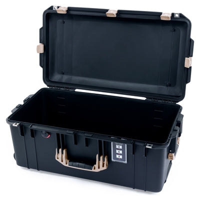 Pelican 1606 Air Case, Black with Desert Tan Handles & Latches - Pelican Color Case
