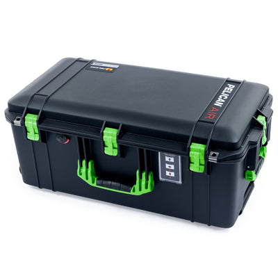 Pelican 1606 Air Case, Black with Lime Green Handles & Latches - Pelican Color Case