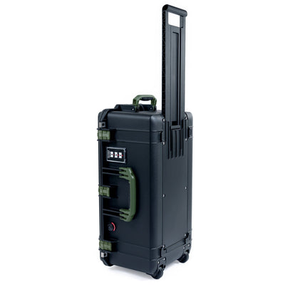 Pelican 1606 Air Case, Black with OD Green Handles & Latches - Pelican Color Case