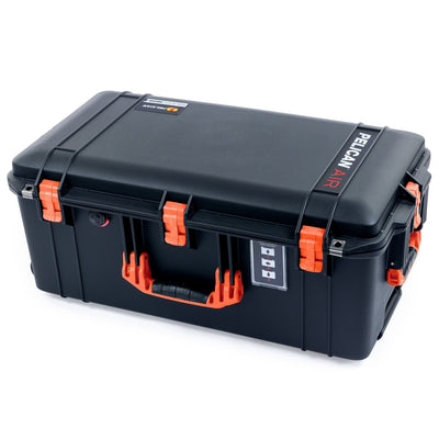 Pelican 1606 Air Case, Black with Orange Handles & Latches - Pelican Color Case