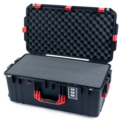 Pelican 1606 Air Case, Black with Red Handles & Latches - Pelican Color Case