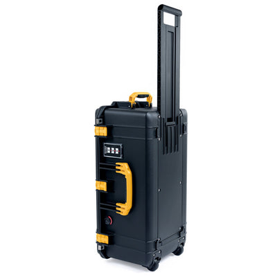 Pelican 1606 Air Case, Black with Yellow Handles & Latches - Pelican Color Case
