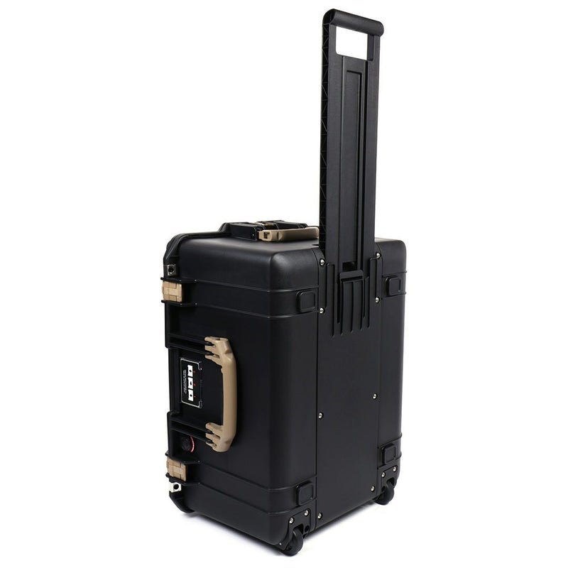 Pelican 1607 Air Case, Black with Desert Tan Handles & Latches - Pelican Color Case