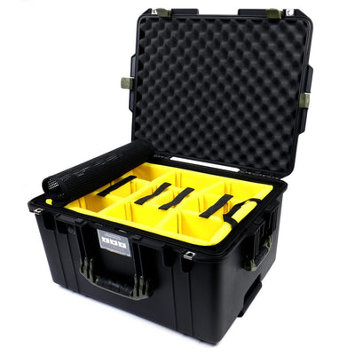Pelican 1607 Air Case, Black with OD Green Handles & Latches - Pelican Color Case