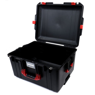Pelican 1607 Air Case, Black with Red Handles & Latches - Pelican Color Case