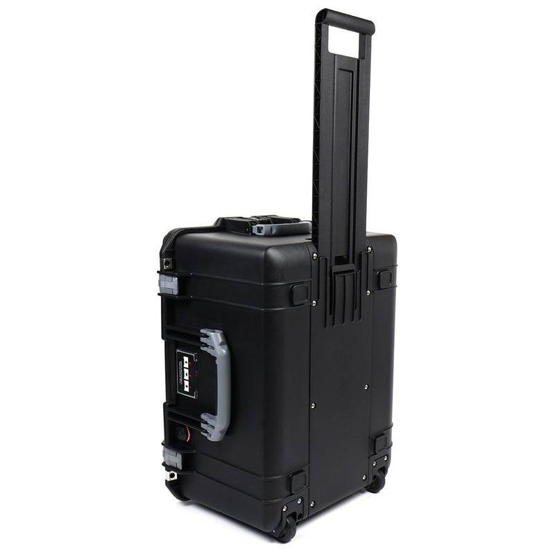 Pelican 1607 Air Colors Series, Black Rolling Air Case with Silver Gray Handles & Latches, Customizable Accessory Bundles