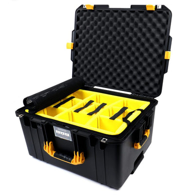 Pelican 1607 Air Case, Black with Yellow Handles & Latches - Pelican Color Case