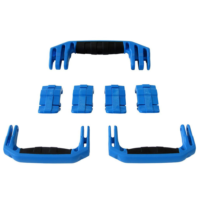 Blue Replacement Handles & Latches for Pelican 1607 Air, 3 Blue Handles, 4 Blue Latches - Pelican Color Case