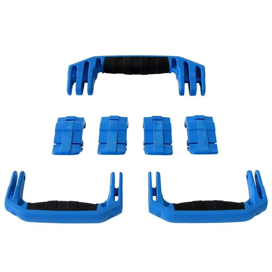 Blue Replacement Handles & Latches for Pelican 1607 Air, 3 Blue Handles, 4 Blue Latches
