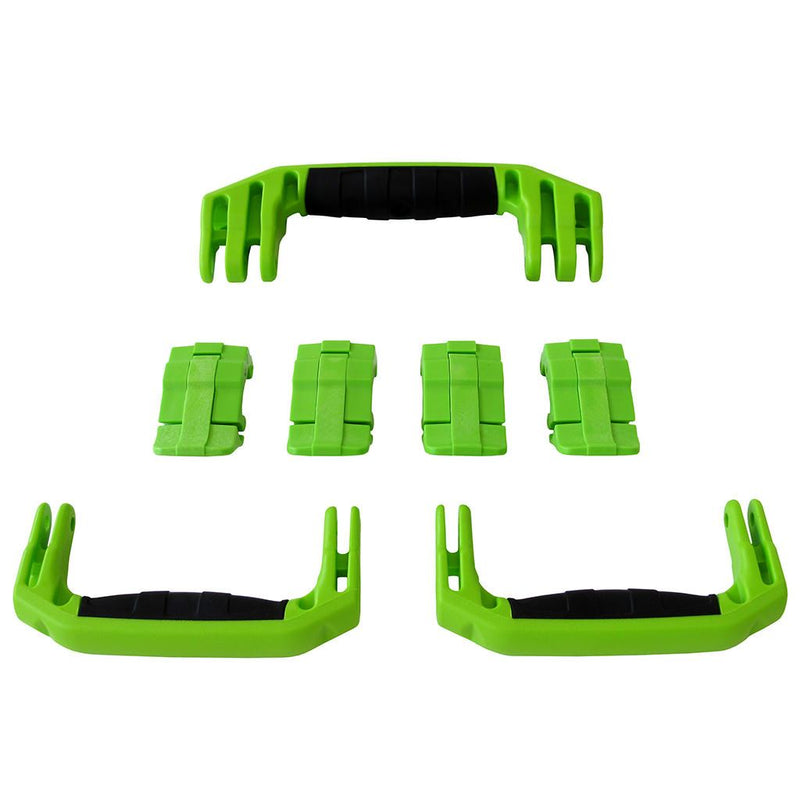 Lime Green Replacement Handles & Latches for Pelican 1607 Air, 3 Lime Green Handles, 4 Lime Green Latches - Pelican Color Case