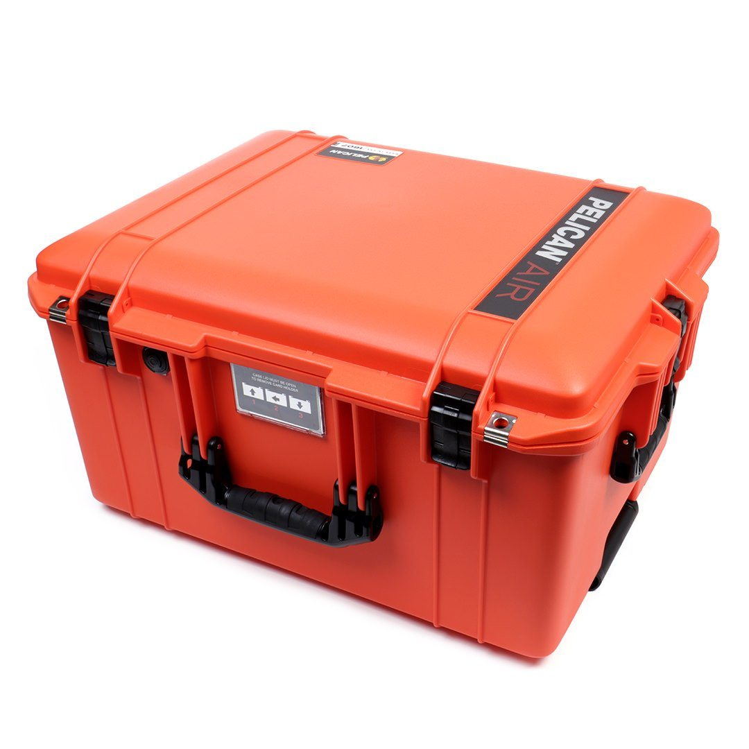 Pelican 1607 Air Case, Orange with Black Handles & Latches - Pelican Color Case