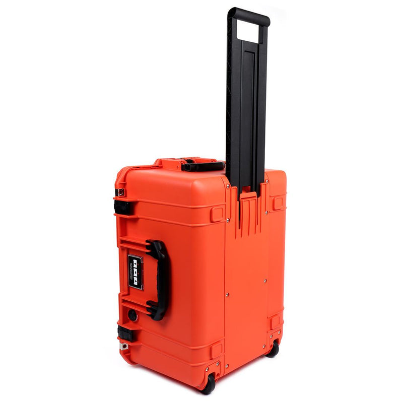 Pelican 1607 Air Colors Series, Orange Rolling Air Case with Black Handles & Latches, Customizable Accessory Bundles