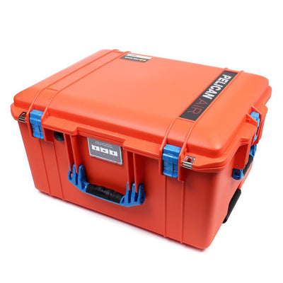 Pelican 1607 Air Colors Series, Orange Rolling Air Case with Blue Handles & Latches, Customizable Accessory Bundles