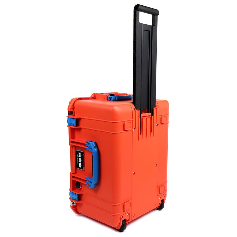 Pelican 1607 Air Case, Orange with Blue Handles & Latches - Pelican Color Case
