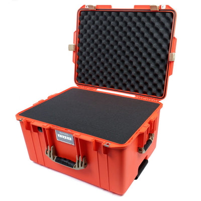 Pelican 1607 Air Case, Orange with Desert Tan Handles & Latches - Pelican Color Case