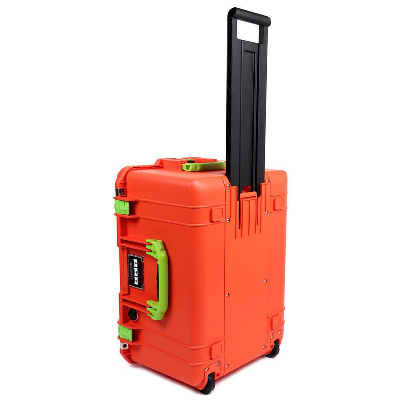 Pelican 1607 Air Case, Orange with Lime Green Handles & Latches - Pelican Color Case