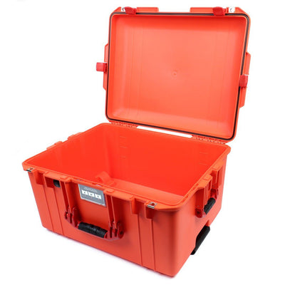 Pelican 1607 Air Colors Series, Orange Rolling Air Case with Red Handles & Latches, Customizable Accessory Bundles