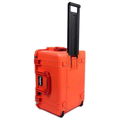 Pelican 1607 Air Case, Orange with Red Handles & Latches - Pelican Color Case