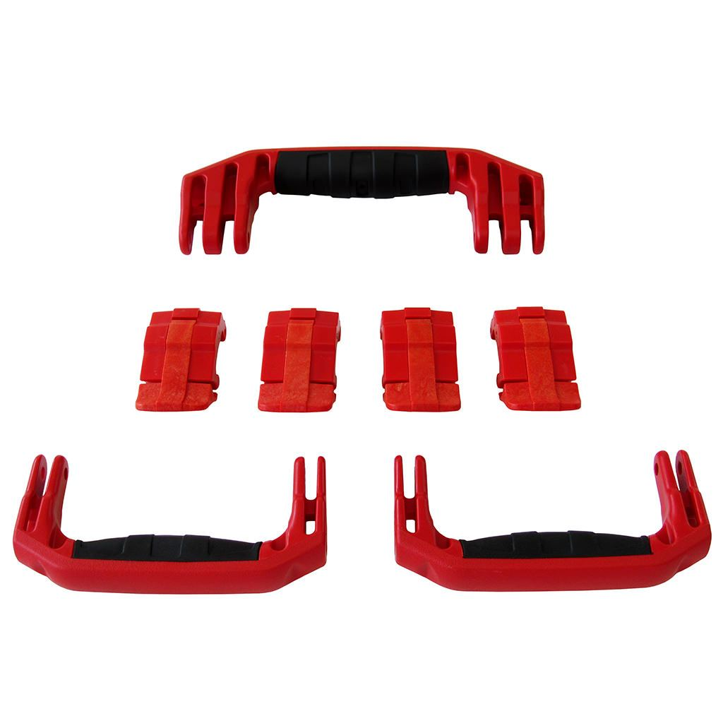 Red Replacement Handles & Latches for Pelican 1607 Air, 3 Red Handles, 4 Red Latches - Pelican Color Case
