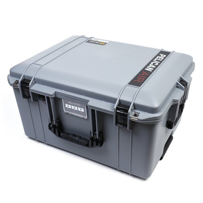 Pelican 1607 Air Case, Silver with Black Handles & Latches - Pelican Color Case