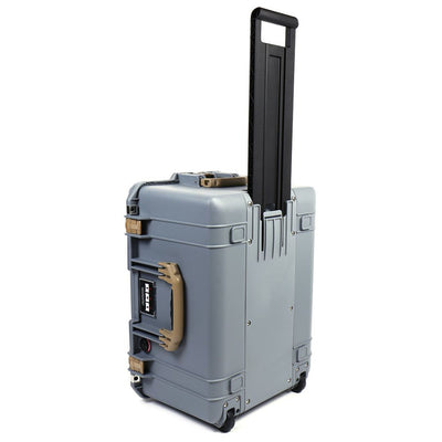 Pelican 1607 Air Case, Silver with Desert Tan Handles & Latches - Pelican Color Case