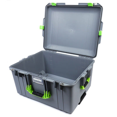 Pelican 1607 Air Case, Silver with Lime Green Handles & Latches - Pelican Color Case
