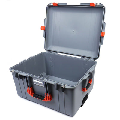 Pelican 1607 Air Case, Silver with Orange Handles & Latches - Pelican Color Case