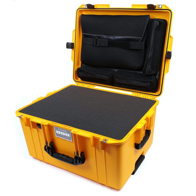 Pelican 1607 Air Case, Yellow with Black Handles & Latches - Pelican Color Case