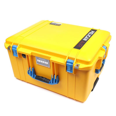 Pelican 1607 Air Case, Yellow with Blue Handles & Latches - Pelican Color Case