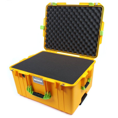 Pelican 1607 Air Case, Yellow with Lime Green Handles & Latches - Pelican Color Case