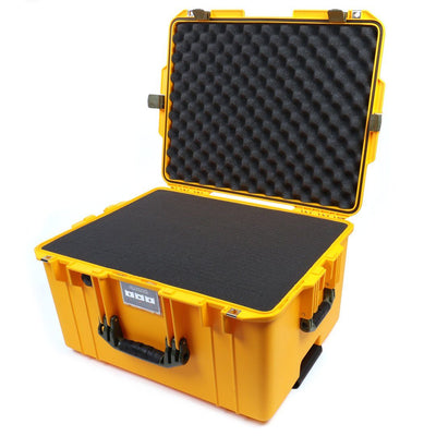 Pelican 1607 Air Case, Yellow with OD Green Handles & Latches - Pelican Color Case