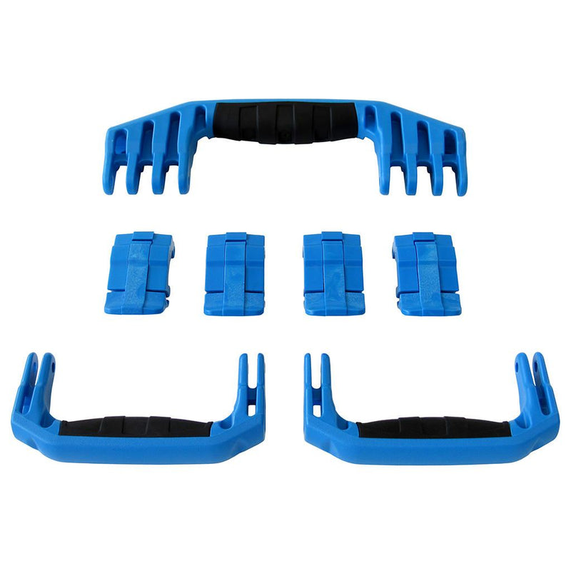 Blue Replacement Handles & Latches for Pelican 1610 or 1620, 3 Blue Handles, 4 Blue Latches - Pelican Color Case