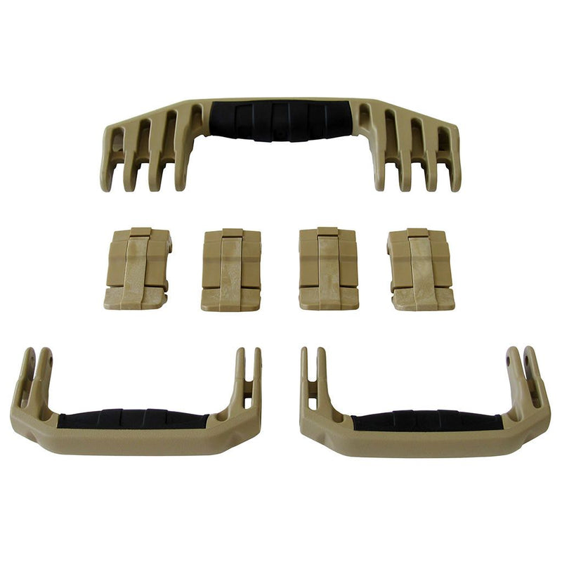 Desert Tan Replacement Handles & Latches for Pelican 1610 or 1620, 3 Desert Tan Handles, 4 Desert Tan Latches - Pelican Color Case