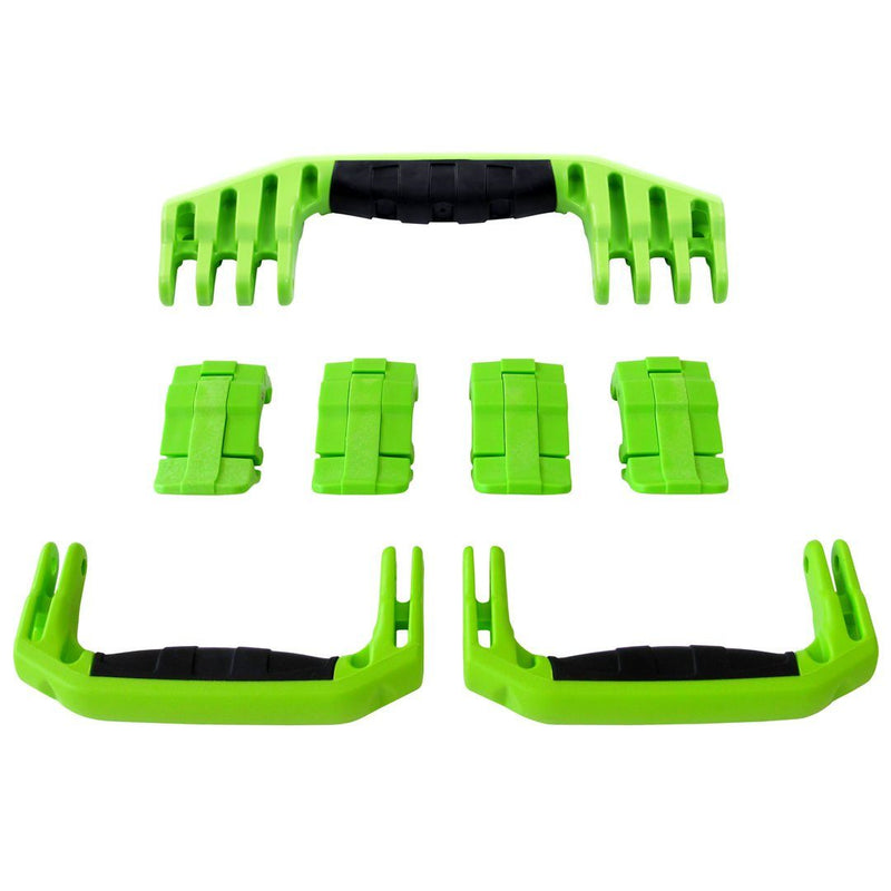 Lime Green Replacement Handles & Latches for Pelican 1610 or 1620, 3 Lime Green Handles, 4 Lime Green Latches - Pelican Color Case