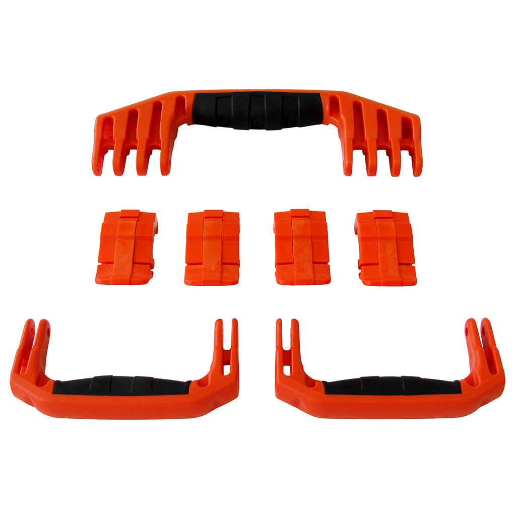 Orange Replacement Handles & Latches for Pelican 1610 or 1620, 3 Orange Handles, 4 Orange Latches - Pelican Color Case