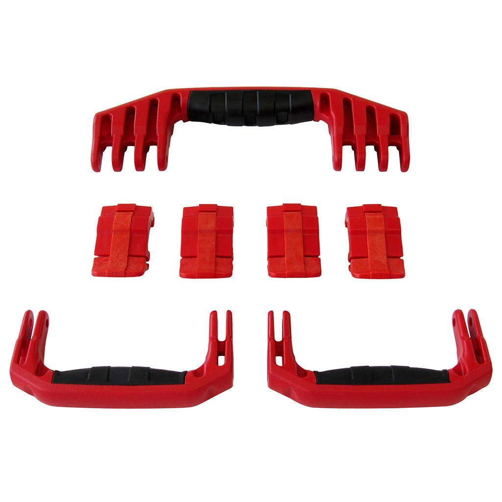 Red Replacement Handles & Latches for Pelican 1610 or 1620, 3 Red Handles, 4 Red Latches - Pelican Color Case