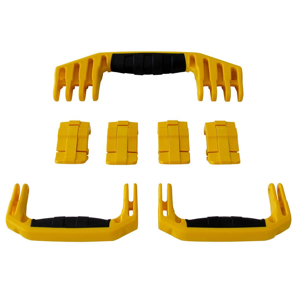 Yellow Replacement Handles & Latches for Pelican 1610 or 1620, 3 Yellow Handles, 4 Yellow Latches - Pelican Color Case