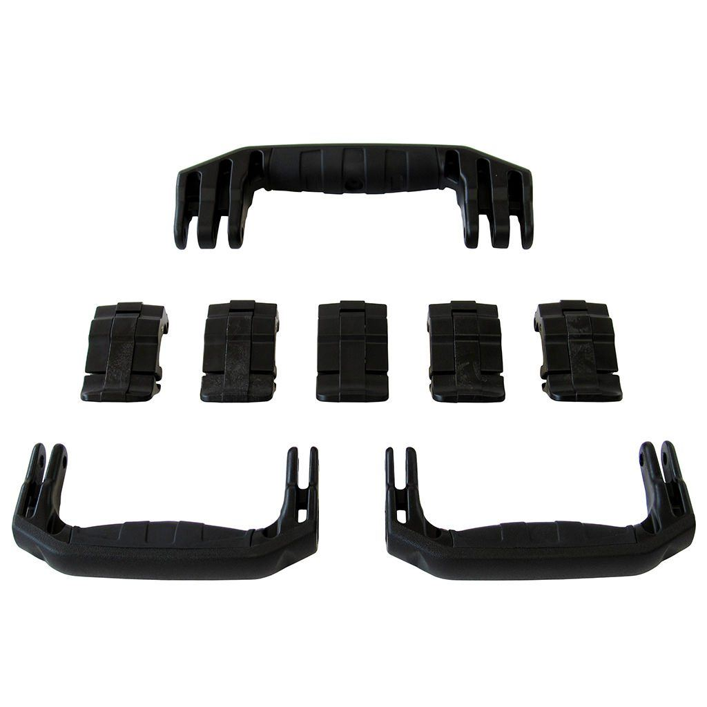 Black Replacement Handles & Latches for Pelican 1615 or 1637 Air, 3 Black Handles, 5 Black Latches - Pelican Color Case