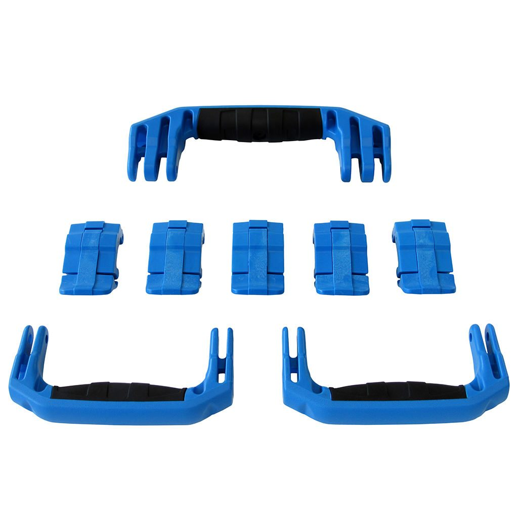 Blue Replacement Handles & Latches for Pelican 1615 or 1637 Air, 3 Blue Handles, 5 Blue Latches - Pelican Color Case