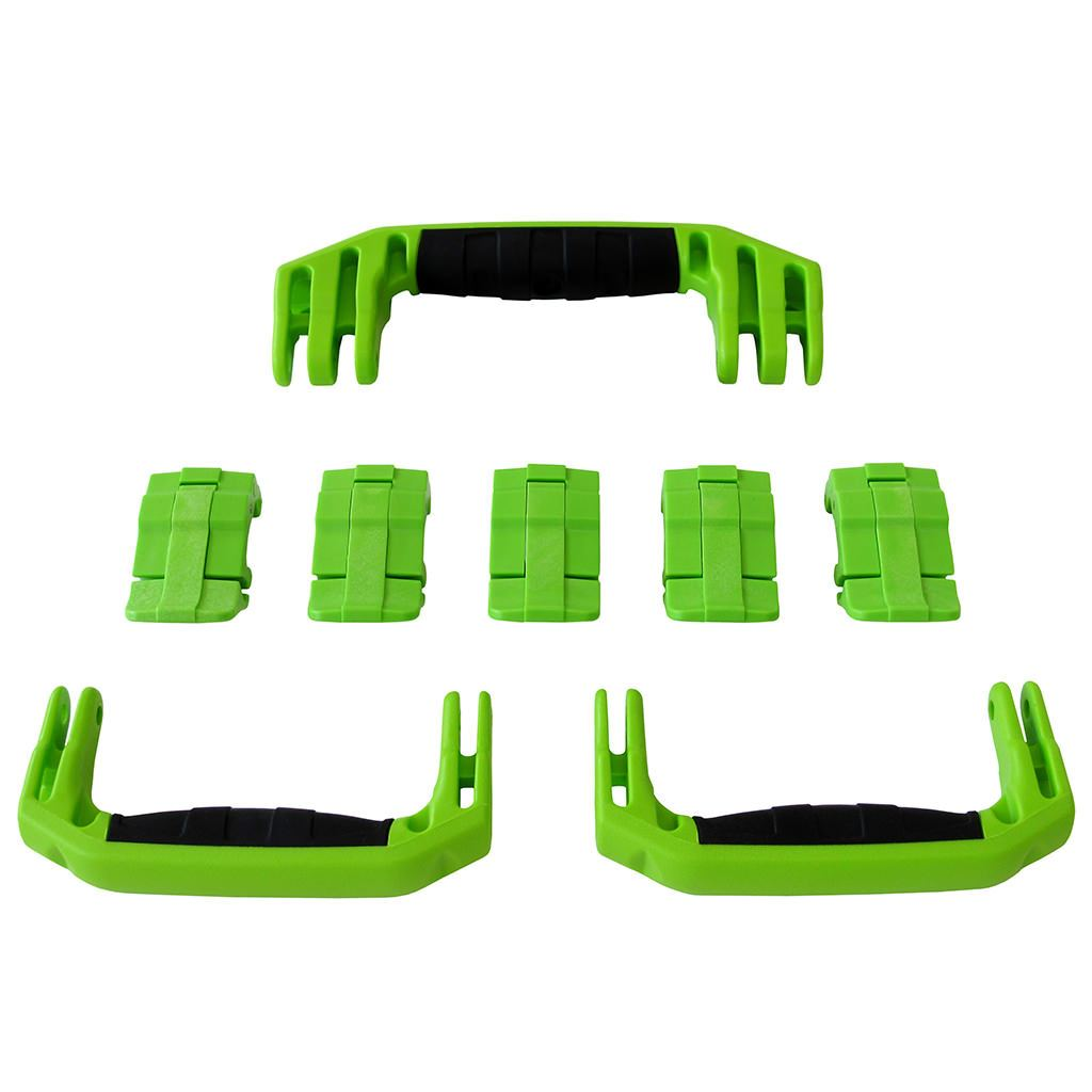 Lime Green Replacement Handles & Latches for Pelican 1615 or 1637 Air, 3 Lime Green Handles, 5 Lime Green Latches - Pelican Color Case