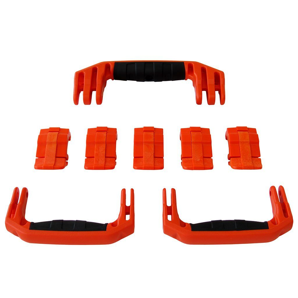 Orange Replacement Handles & Latches for Pelican 1615 or 1637 Air, 3 Orange Handles, 5 Orange Latches - Pelican Color Case