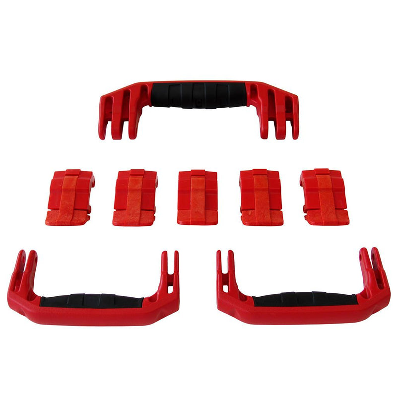 Red Replacement Handles & Latches for Pelican 1615 or 1637 Air, 3 Red Handles, 5 Red Latches - Pelican Color Case