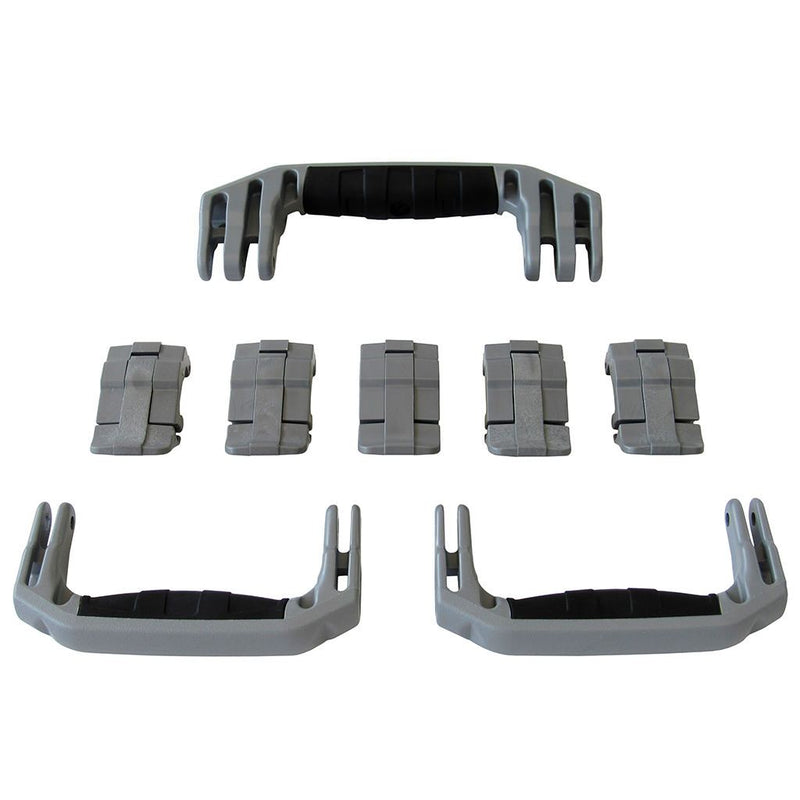 Silver Gray Replacement Handles & Latches for Pelican 1615 Air, 3 Silver Gray Handles, 5 Silver Gray Latches - Pelican Color Case