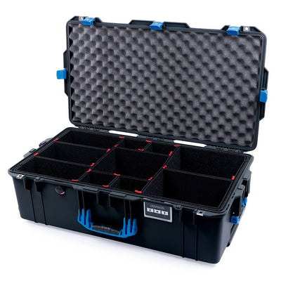 Pelican 1615 Air Case, Black with Blue Handles & Latches