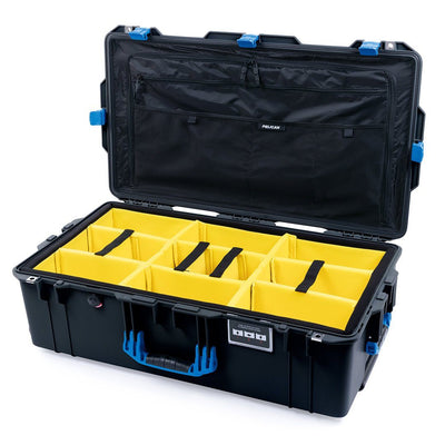 Pelican 1615 Air Case, Black with Blue Handles & Latches - Pelican Color Case