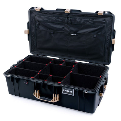 Pelican 1615 Air Case, Black with Desert Tan Handles & Latches - Pelican Color Case