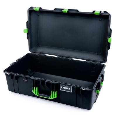 Pelican 1615 Air Case, Black with Lime Green Handles & Latches - Pelican Color Case